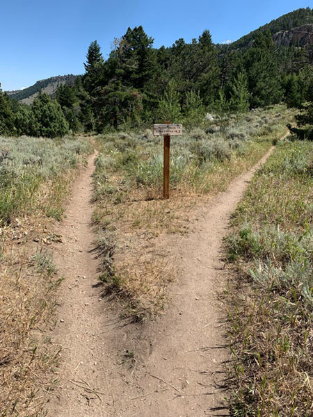 Follow the signs to stay on Sinks Canyon Trail