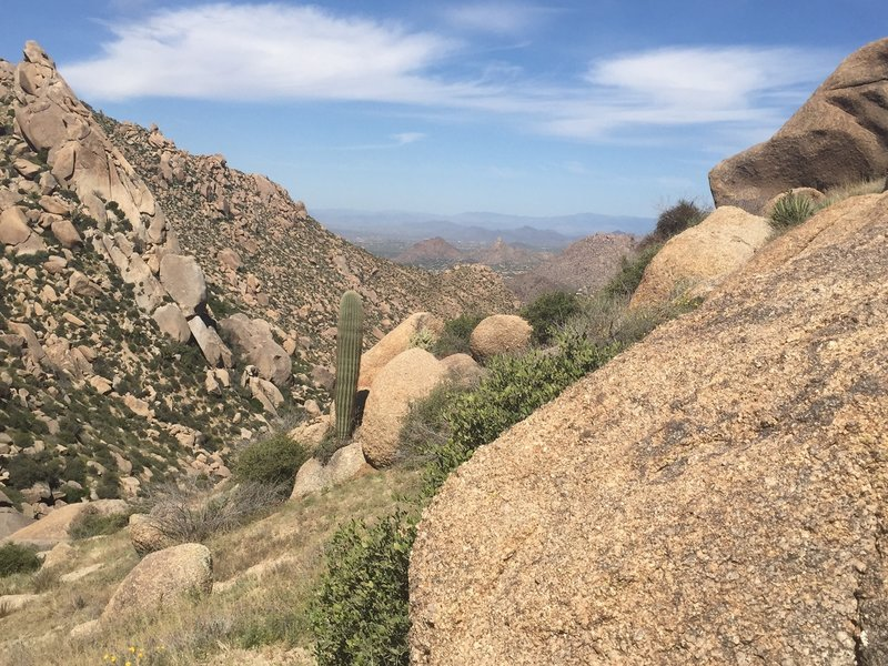 View north from near summit of Tom's Thumb.