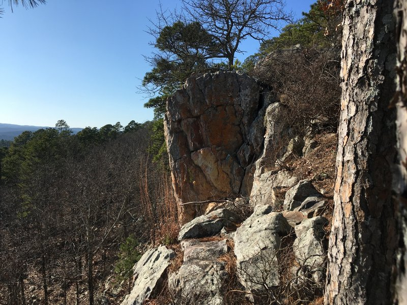 Some awesome rock formations can be seen on this upper ridge!