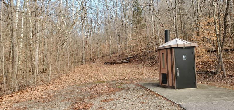 The trail is not well marked at the end near the lake. The trailhead is just behind the vault toilet.
