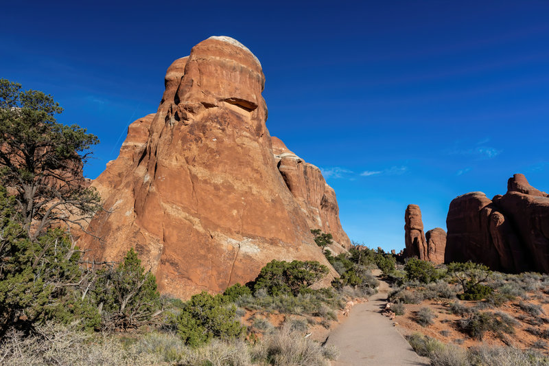 Rock towers next to Devils Garden Trail.