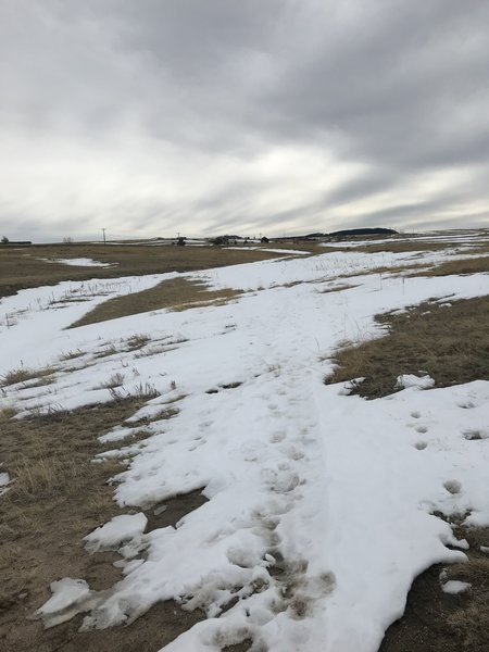 Areas of snow that covered the trail and may confuse if you are unfamiliar with the trail.