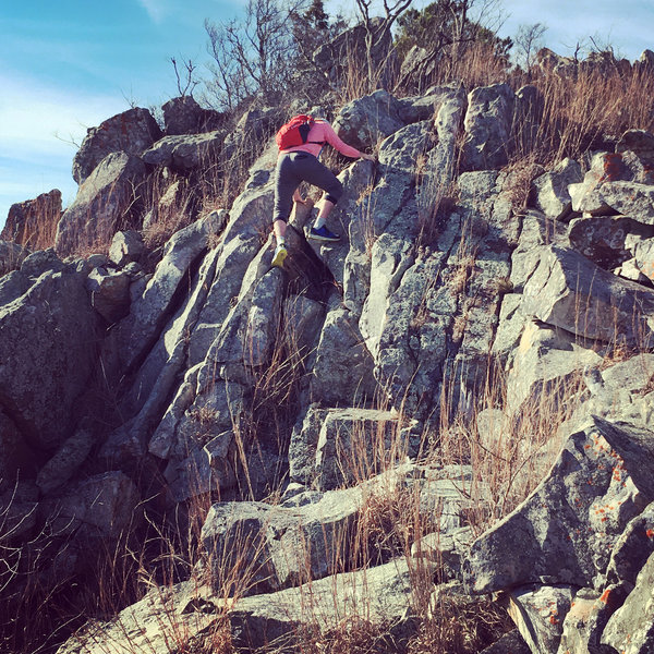 Some of the scrambling involved on this ridge traverse.  This could have been made easier, but I like a nice class 3 scramble vs class 2.