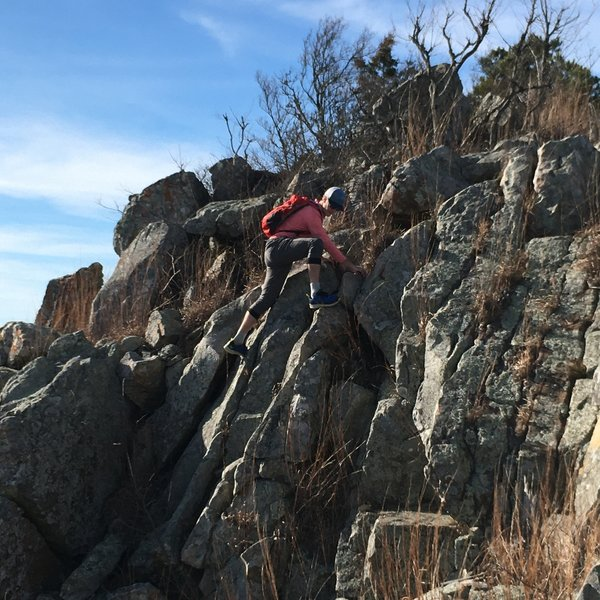 Not necessary, but there are several ways to make this traverse a bit more technical!