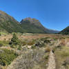 Beautiful trail on valley floor.