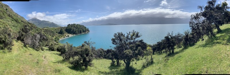 Overlooking Lake Wakatipu.