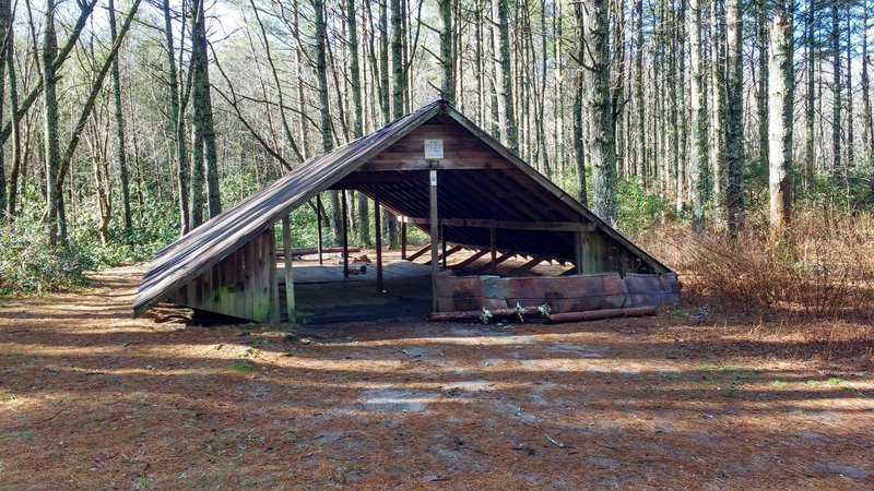 Large group camping shelter.