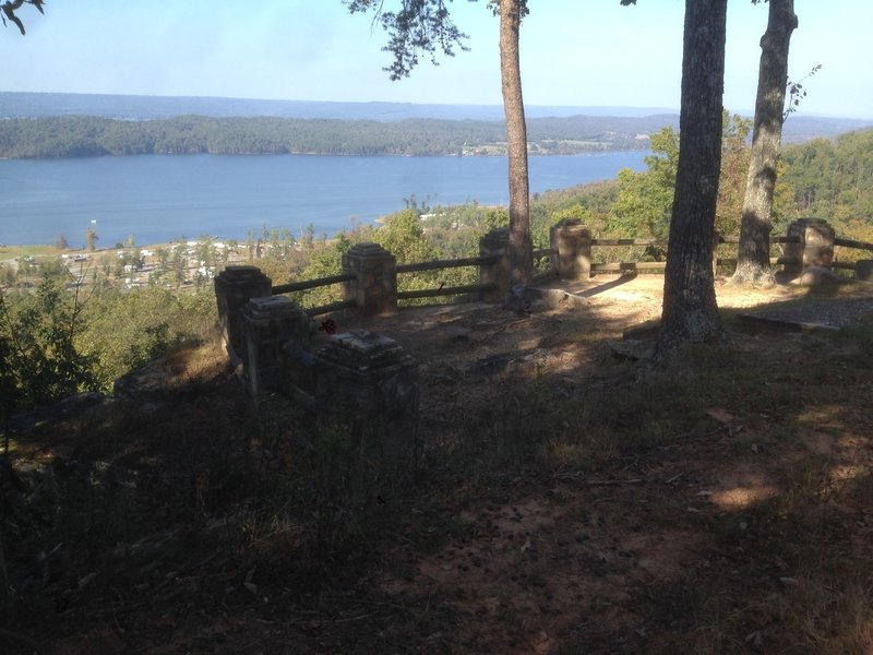 Mabrey Point Overlook.  The Golf Course Loop is being extended in this direction.