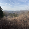 Lake Nockamixon and Nockamixon State Park from the top of Quarry Trail