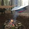 Camping at Coon Run on the Twin Lakes Trail.  December 27, 2019
