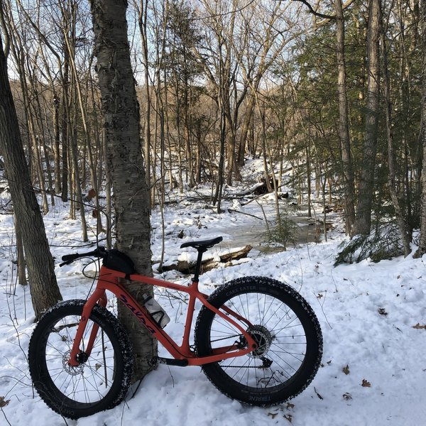 In the winter, it's often the case that you'll see these types of bikes being ridden along the trails. Keep your wits about you and stay aware for oncoming cyclists!