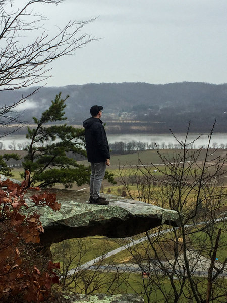 Me taking in the view at Raven Rock