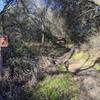 Sign at the start of Los Lagos (not Logos) Trail