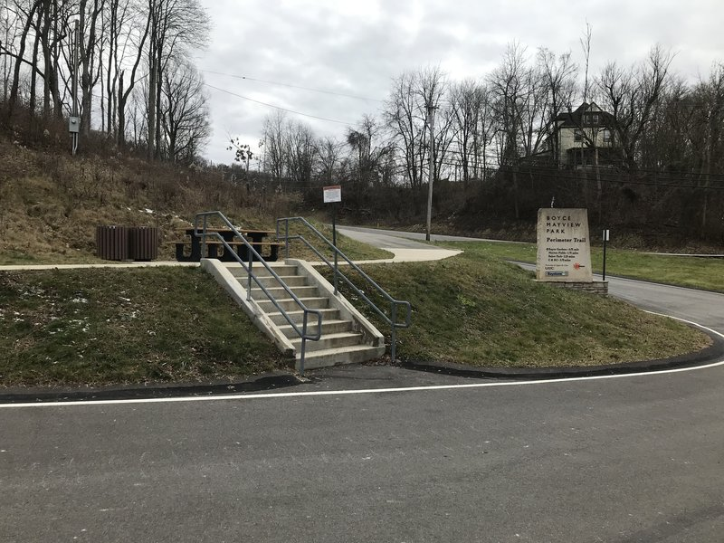 Start of Perimeter Trail.
