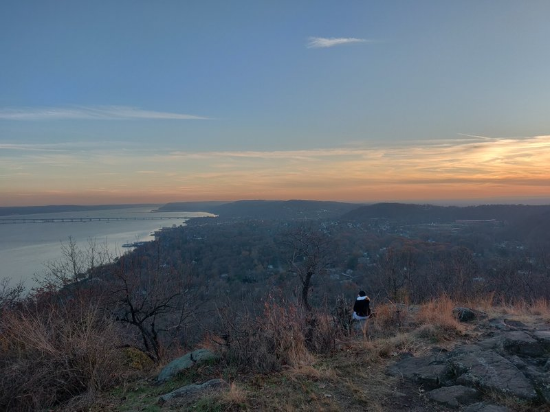 Village of Nyack from top of Hook Mt.