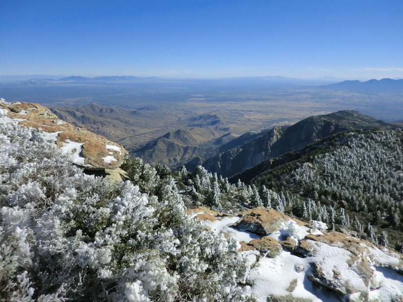 December is  fine time to hike Rincon Peak.