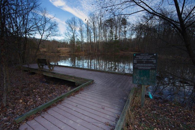 Fishing platform at Hidden Pond