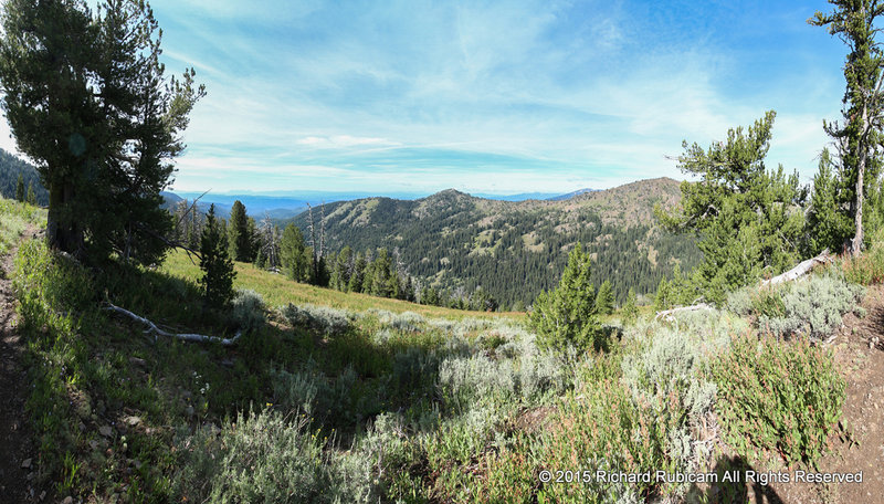 Since the trail closely follows the ridge, nice views are frequent.