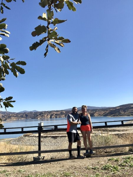Great trail run overlooking Castaic lake!