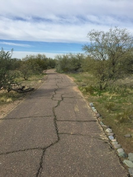 The paved trail