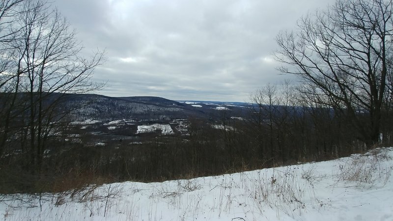 The overlook. Looking west toward Newfield Ny