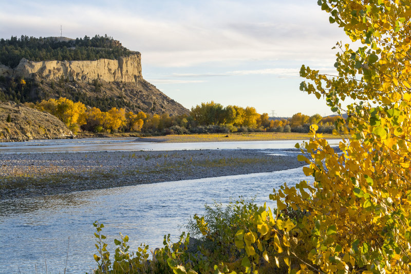 """""""Yellowstone River Four Dances 79"""" by Bureau of Land Management Montana and Dakotas (https://tinyurl.com/yzpn3b6n), Flickr licensed under CC BY-SA 2.0 (https://creativecommons.org/licenses/by-sa/2.0/)."""