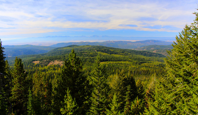 View of the Elkhorns to the west. Location on map is approximate.
