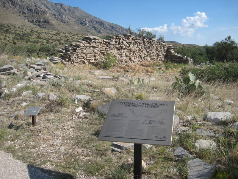 View of the Butterfield Stage ruins