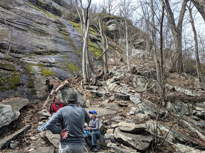 Love the rocky areas of this hike -- especially above the falls area.