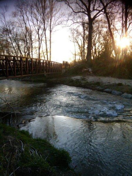 Bridge crossing Cane Creek.