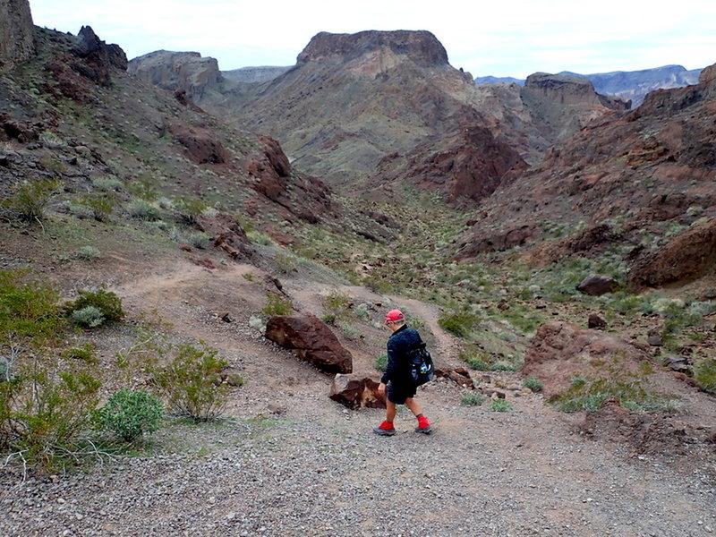 Descending into Hot Spring Canyon