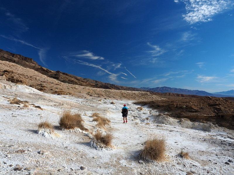 Crossing the salt flats at Keane Wonder Springs