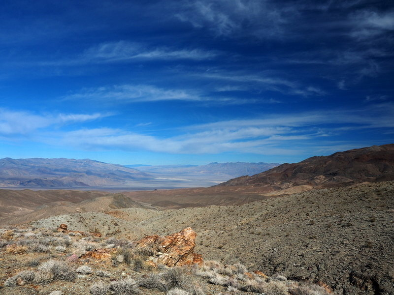 Looking into northern Death Valley from the old mine trail