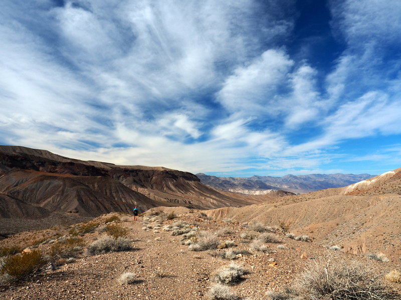 Big sky over the old Saddle Rock Mine road