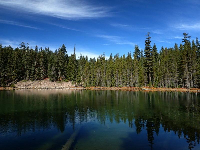 Looking west across McKee Lake