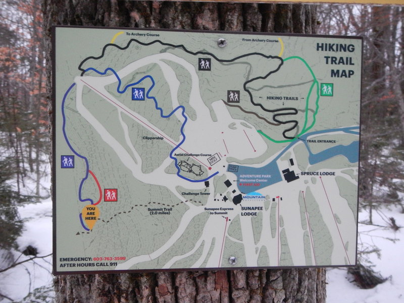 Trail Map for Adventure Park Trails