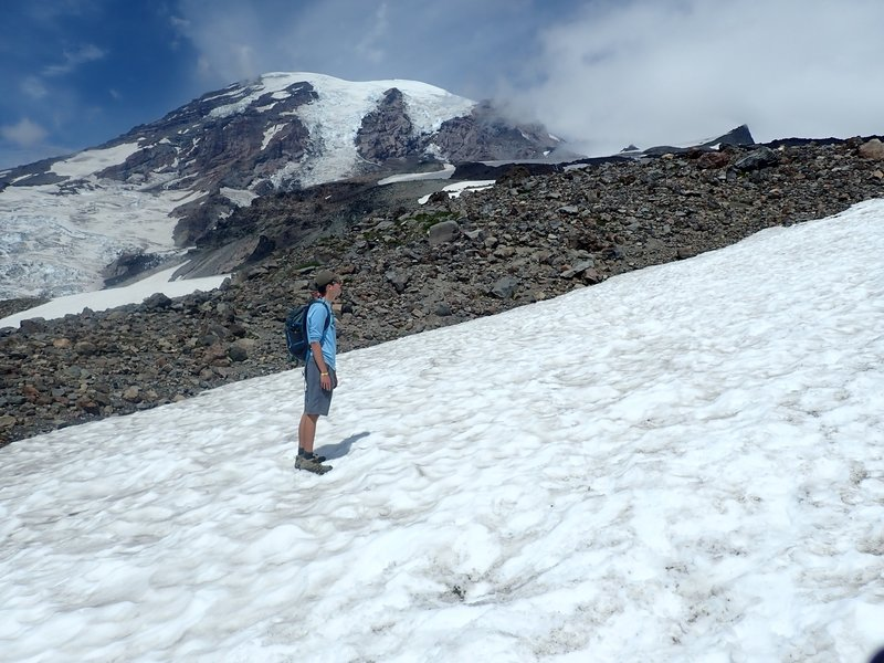 On the way up the Camp Muir trail on Rainer