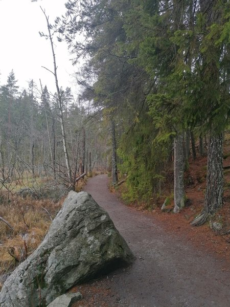 The gravel path