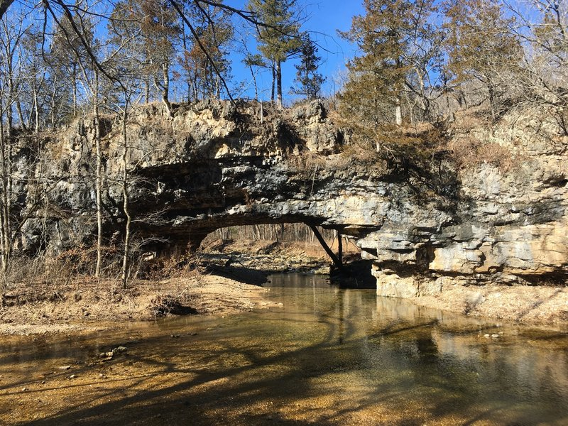The natural bridge during semi-high water!