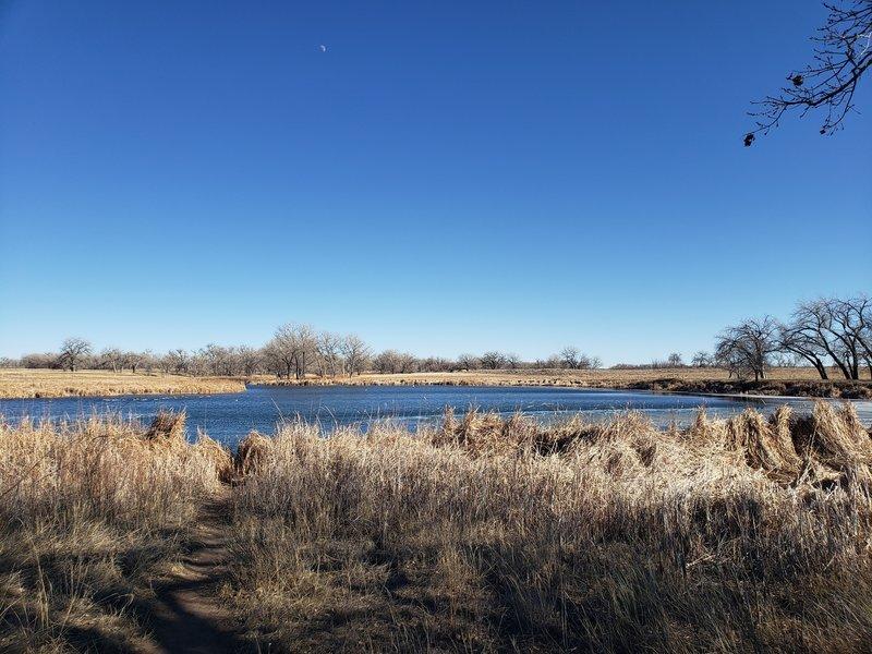 Looking eastward over Ladora Lake