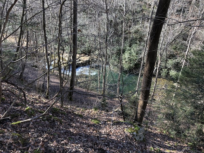 Glade creek trail below us
