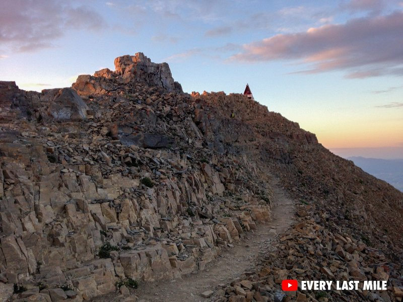 The last 800 feet to Timpanogos summit