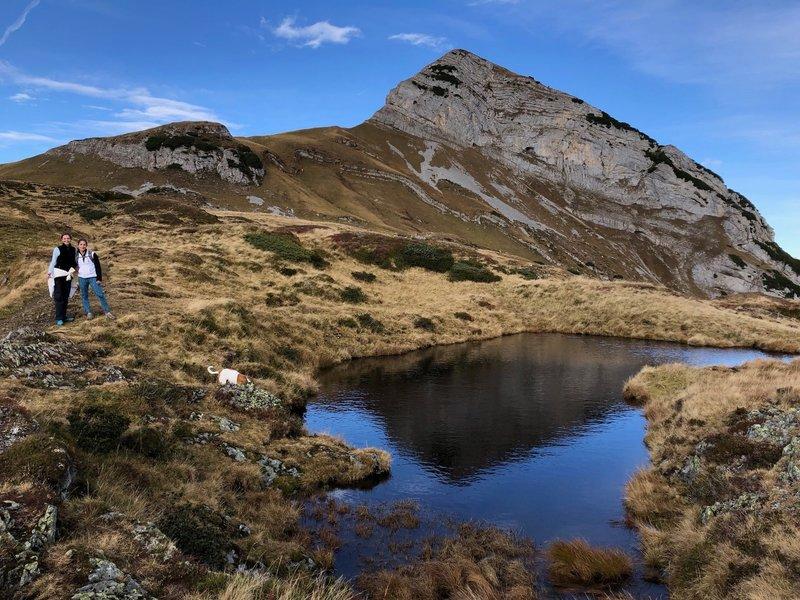 Pretty lakes along the trail