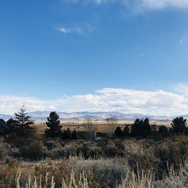 Beginning of Jobs Peak Trailhead. One of the main beautiful vistas. Carson Valley.