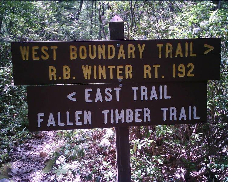 Trail sign along the Mid-State Trail.