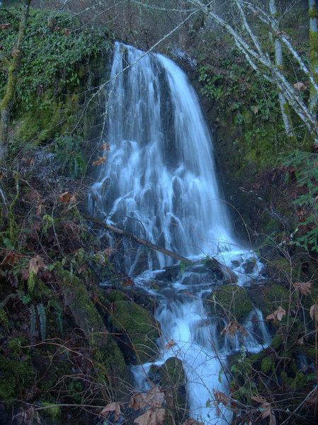 Upper Rumley Falls during spring runoff.