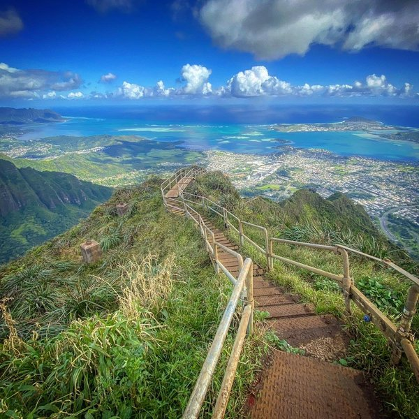 Stairway to Heaven or Descent from Hell - Haiku Stairs