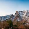 Snowcapped mountains in Seoraksan National Park