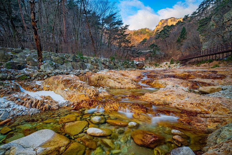 River valleys in Osaek, Seoraksan National Park