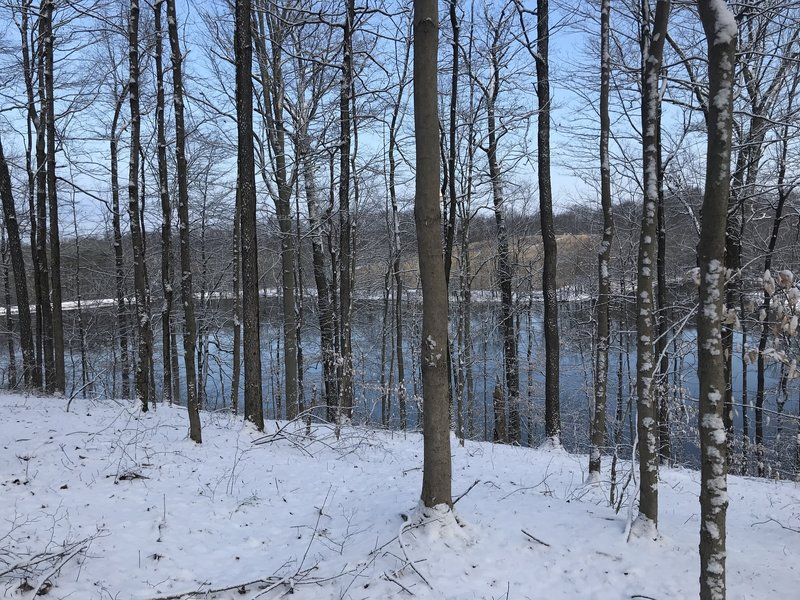 View of lake from trail. Location approximate.